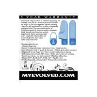 Evolved Novelties Fingerlicious Finger Clitoral Stimulator - Packaging Back