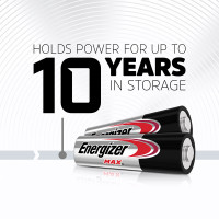 Energizer MAX Alkaline AA Batteries - 10 Years
