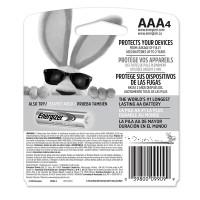 Energizer MAX Alkaline AAA Batteries - Back