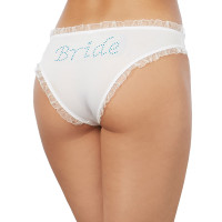 Dreamgirl Lingerie Bride Print Tanga Panty - Back