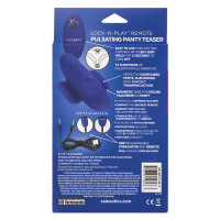 CalExotics Lock-N-Play Remote Pulsating Panty Teaser - Packaging Back