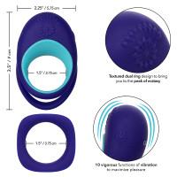 CalExotics Link Up Alpha Dual Vibrating Cock Ring -  Features