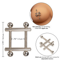 CalExotics Nipple Grips Crossbar Nipple Vices - Features