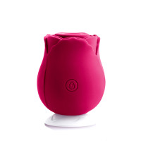 NS Novelties INYA The Rose 7-function Rechargeable Rose-shaped Silicone Suction Vibrator - Charging