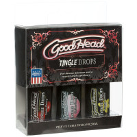 Doc Johnson GoodHead Tingle Drops 3-Pack (Sweet Cherry, Cotton Candy, French Vanilla) - Package