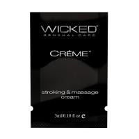 Wicked Creme Stroking & Massage Cream Sample