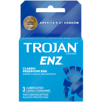 Trojan ENZ Lubricated Latex Condoms 3pk - Front