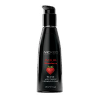 Wicked Aqua Flavored Lubricant - Strawberry 4 oz.