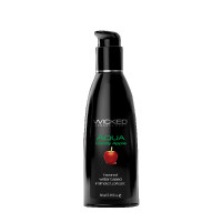 Wicked Aqua Flavored Lubricant - Candy Apple 2 oz.