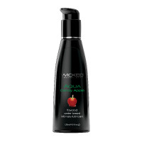 Wicked Aqua Flavored Lubricant - Candy Apple 4 oz.
