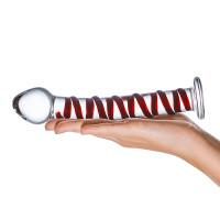 """Glas Mr. Swirly 8"""" Glass Dildo  - Model #1"""