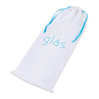 """Glas Mr. Swirly 8"""" Glass Dildo  - Storage Bag"""