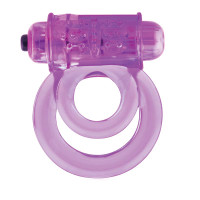 DoubleO 6 Vibrating Double Cock Ring - Front