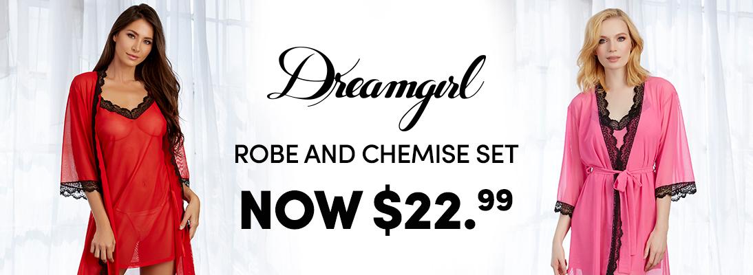 Cirilla's Dreamgirl Robe and Chemise Set $22.99 Sale