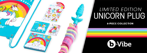 Cirilla's b-Vibe Unicorn Limited Edition Vibrating Butt Plug 6pc. Set