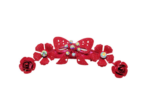 Small Floral Bow Clip