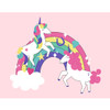 "Dancing Unicorn On Rainbow Poster 46""x36"""