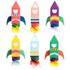 Space Valentine Rocketship Treat Boxes - Download