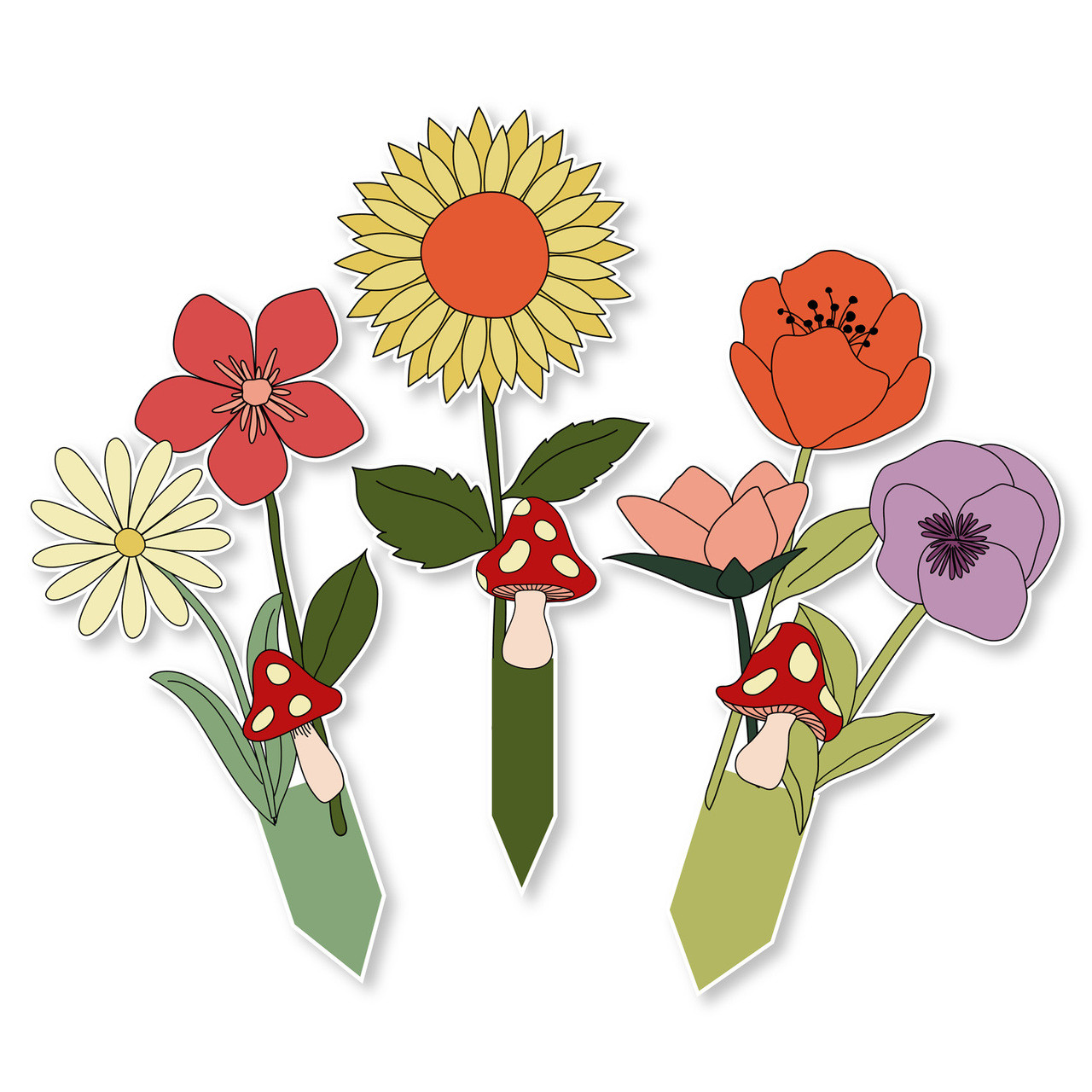 Flower Cupcake Toppers Amy Robison