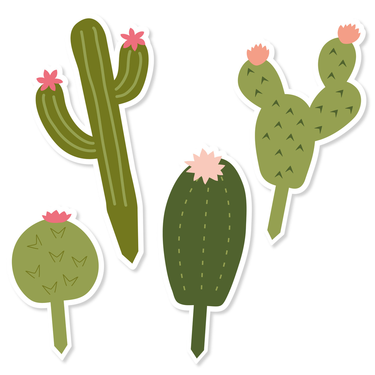 picture regarding Cactus Printable named Cactus Cupcake Toppers