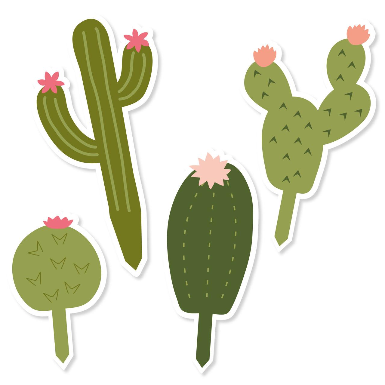 image regarding Cactus Printable named Cactus Cupcake Toppers