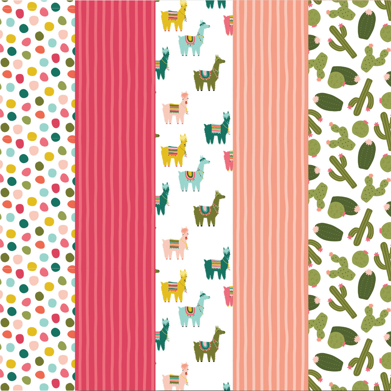 photo about Printable Pattern Paper called Cactus and Llama Practice Paper Pack