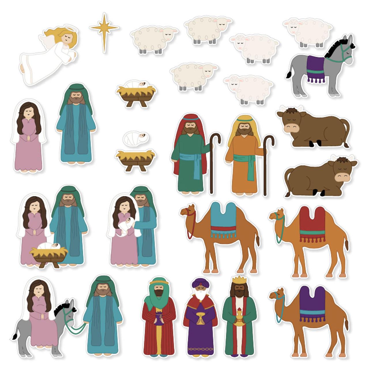 Printable Christmas Nativity set for Kids | pdf svg