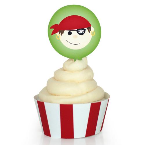 Pirate Cupcake Wrapper: Boy