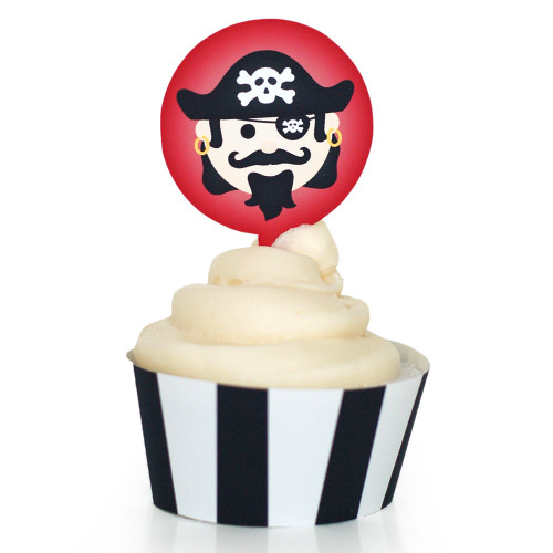 Pirate Cupcake Wrapper: Captain