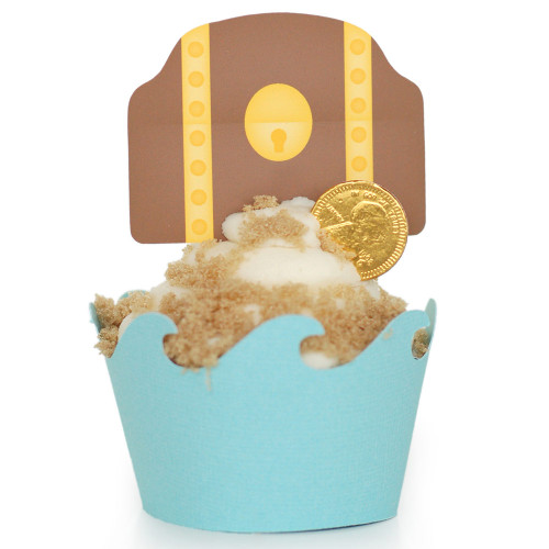 Pirate Cupcake Wrapper: Treasure Chest