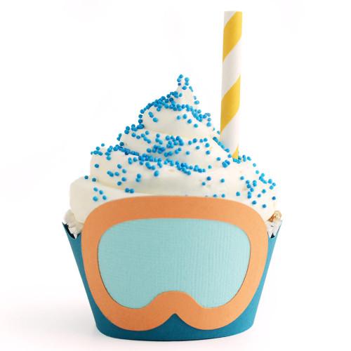 Tropical Cupcake Wrapper: Snorkel