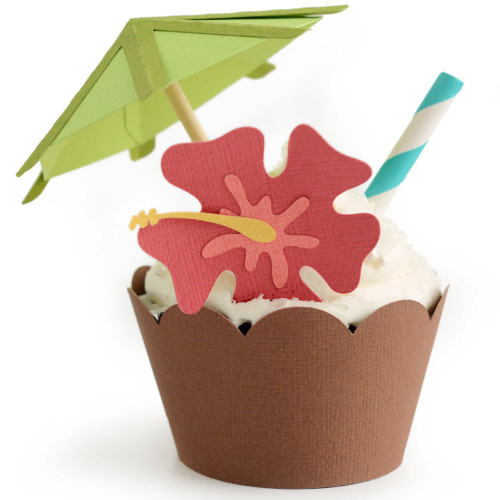 Tropical Cupcake Wrapper: Coconut Drink