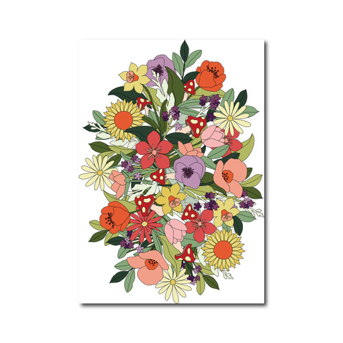 Flower Poster on White