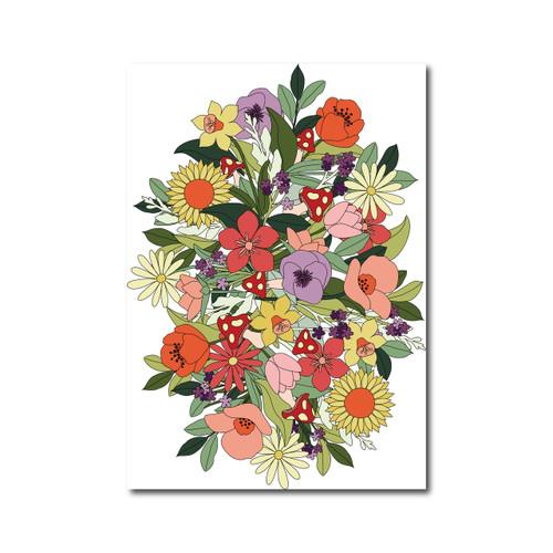 Flower Poster on White