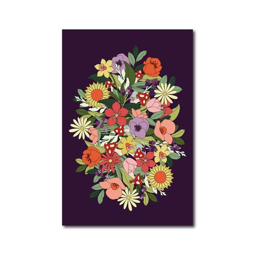 Flower Poster on Purple