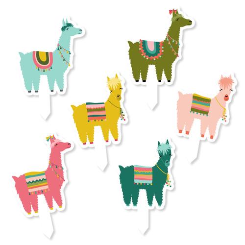 Llama Cupcake Toppers