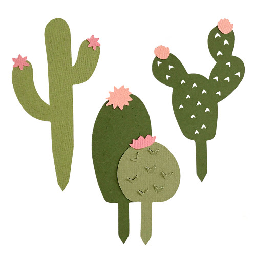 Pop Out Cactus Cupcake Toppers