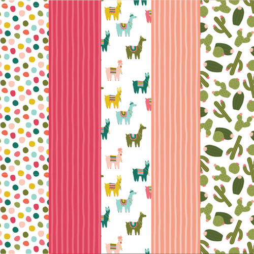 Cactus and Llama Pattern Paper Pack