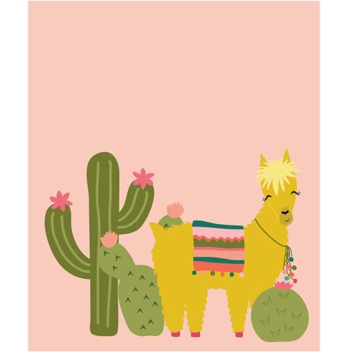 Cactus and Llama Poster