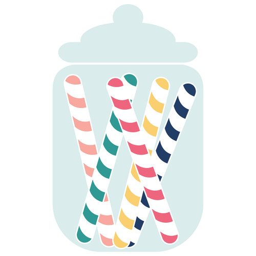 Candy Jar of Candy Sticks