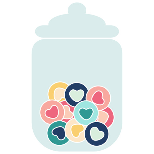 Candy Jar of Heart Candy