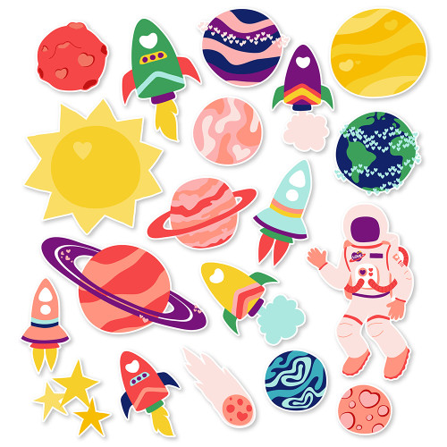 Space Valentine Planets - Download