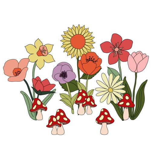 Garden Party Giant Cutouts - Printable