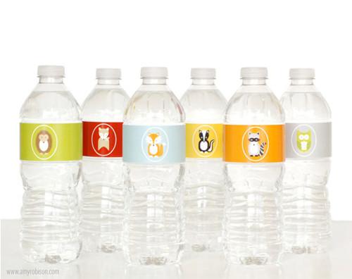 Woodland Water Bottle Labels