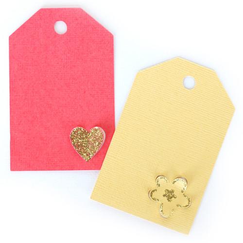 Heart + Flower Tags