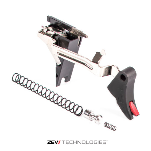 ZEV PRO TRIGGER 9MM CURVED FACE UPGRADE DROP-IN KIT 4TH GEN W RED SAFETY