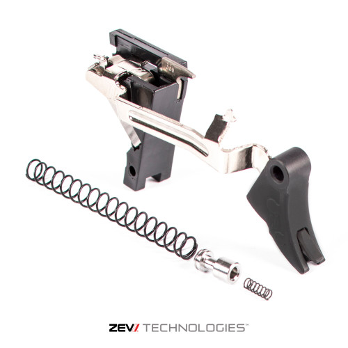 zev cpt pro curved face black black 3rd gen drop in trigger kit