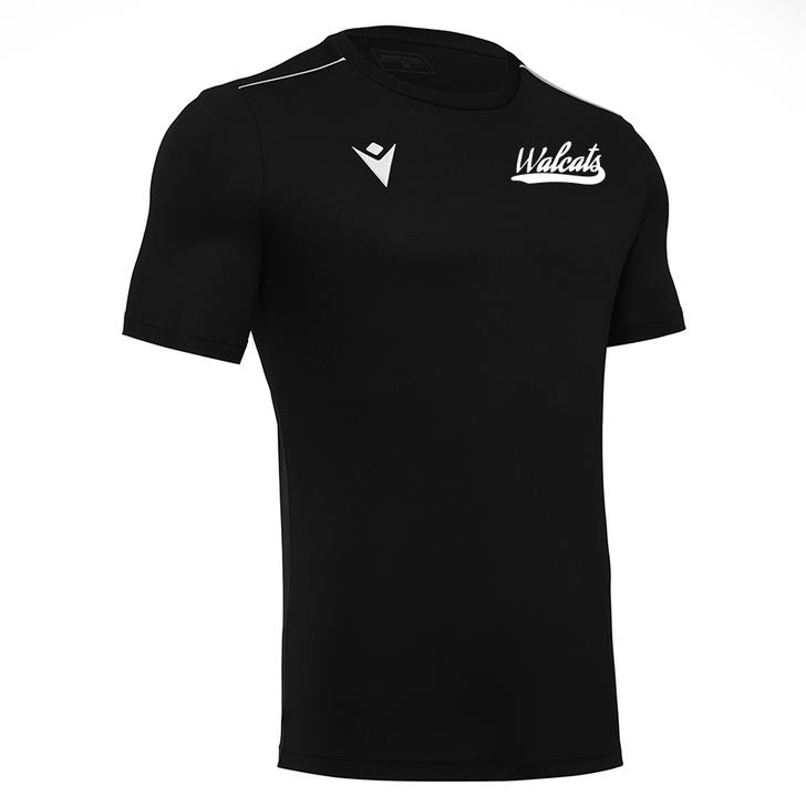 Walcats Girls Rugby SNR Black Training T-Shirt