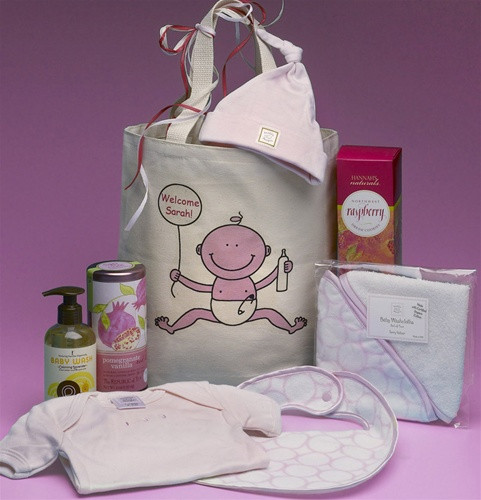 New Baby Girl Personalized Baby Gift Basket