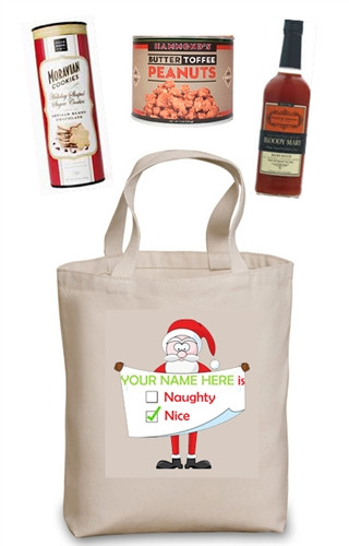 Naughty or Nice Build Your Own Gift Basket (They're Nice! You personalize the bag and choose the contents)